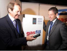 Gasfill exhibited at the National Low Carbon Vehicle Event in 2009
